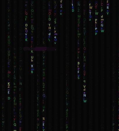 炫酷的黑客帝国文字雨背景特效